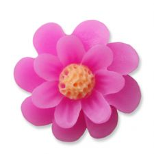 18mm Candy Pink Daisy Resin Flatback Cabochons